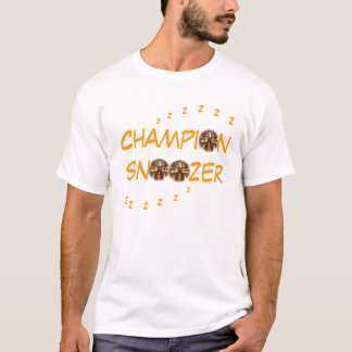 "Camiseta Do ""Tshirt do T de Snoozer campeão"""