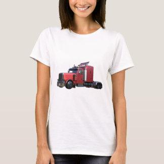 Camiseta Do vermelho caminhão metálico de Traler do trator
