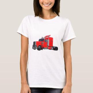 Camiseta Do vermelho reboque de Tracter semi