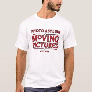Camiseta do vintage das imagens moventes do asilo