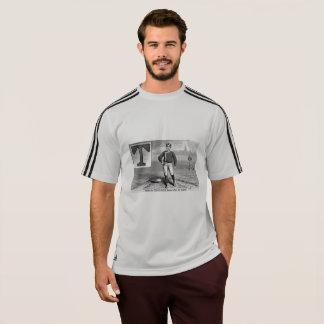 Camiseta Do vintage inicial da rima do jogador de beisebol