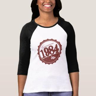 Camiseta Do vintage luva 1984 de Raglan