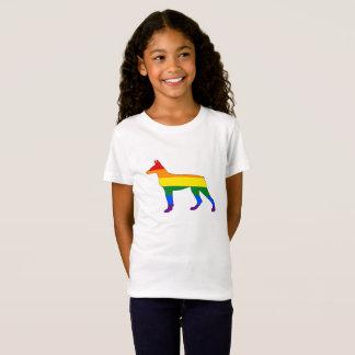 Camiseta Doberman do arco-íris