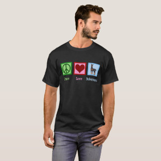 Camiseta Dobermans do amor da paz