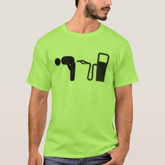 Camiseta Dobre sobre e tome-o acima do Tailpipe!