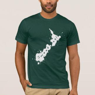 Camiseta Doce branco do Splatter NZ como o t-shirt