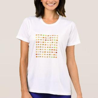 Camiseta Doces e fundo sem emenda do teste padrão dos doces