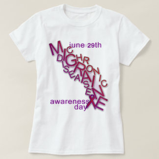 Camiseta Doença crônica da enxaqueca - consciência da