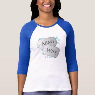 Camiseta Dog tags da esposa do exército
