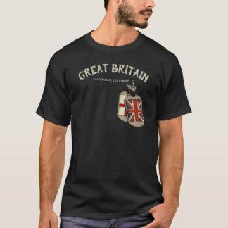 Camiseta Dog tags do inglês de Grâ Bretanha