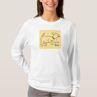 Camiseta dogdesign, eu amo cães