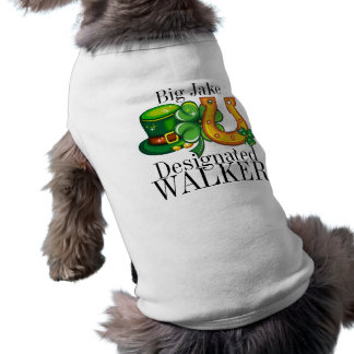 Camiseta Doggy do dia de St Patrick designado do CAMINHANTE