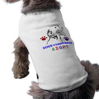 Camiseta Dogs=Happiness adota o T do cão