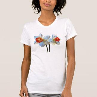 Camiseta Dois brancos e Daffodils alaranjados