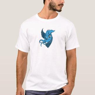 Camiseta Dois brincalhão tonificaram o pássaro azul