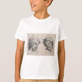 Camiseta Dois desenhos das caras irritadas