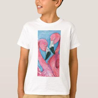 Camiseta Dois flamingos