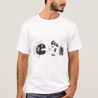 Camiseta dois peixes e um polvo