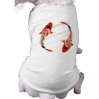 Camiseta Dois peixes vermelhos de Koi