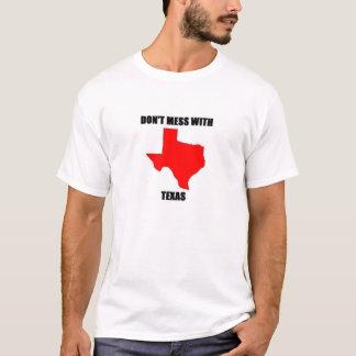 Camiseta Don; confusão de t com Texas