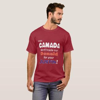 Camiseta Donald de comércio engraçado para o t-shirt de