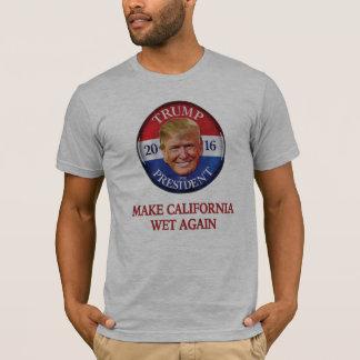 Camiseta Donald Trump - faça Califórnia molhada outra vez
