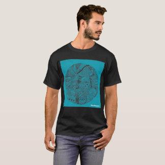 Camiseta Doodle azul