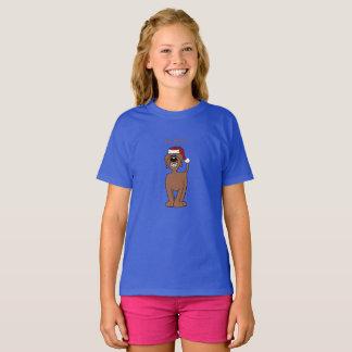 Camiseta Doodle castanha Santa