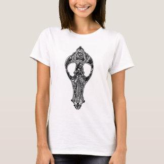 Camiseta Doodle do crânio do cão
