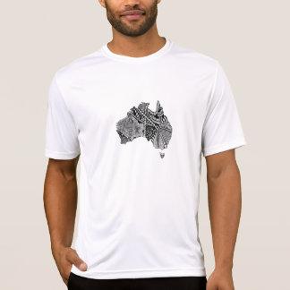 Camiseta Doodle do mapa de Austrália