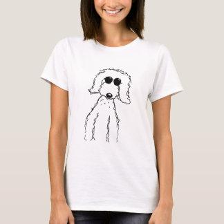 Camiseta Doodle dourado nos óculos de sol