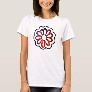 Camiseta Doodle lunático de flower power