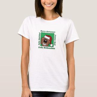 Camiseta Doodle natais castanhos