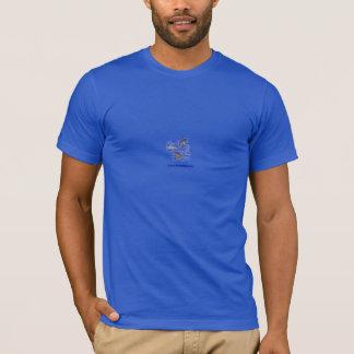 Camiseta doodles quadrados múltiplos