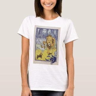 Camiseta Dorothy e o leão Cowardly de mágico de Oz