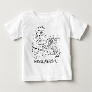 Camiseta dos desenhos animados do zombi