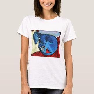 """Camiseta Dos """"filhote de cachorro do Whippet azuis bebés"""