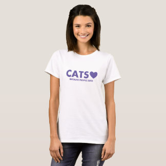 Camiseta ♥ dos gatos porque as pessoas sugam