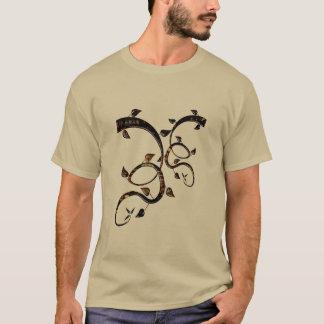 Camiseta Dos homens de vidro do emblema da arte o t-shirt