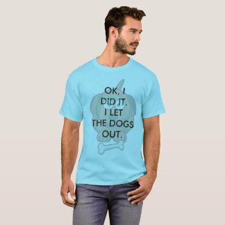 Camiseta Dos homens dos cães t-shirt para fora - skyline