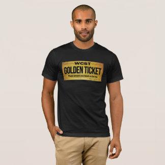 Camiseta Dos homens DOURADOS do BILHETE de WCST o roupa