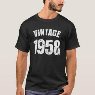 Camiseta Dos homens engraçados do aniversário do vintage