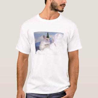 Camiseta Dos homens imperiais da chinchila do feiticeiro do