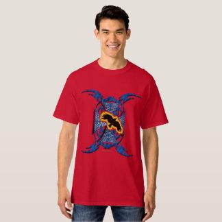 Camiseta Dos homens transversais do corvo do ferro o
