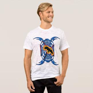 Camiseta Dos homens transversais do corvo do ferro t-shirt