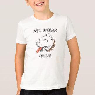 Camiseta dos meninos da regra dos pitbull