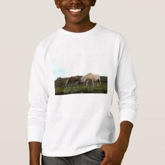 Camiseta Dos miúdos selvagens dos pôneis de Dartmoor a