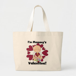 Camiseta dos namorados da mamã do Cupido do menino Sacola Tote Jumbo