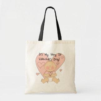 Camiseta dos namorados dos corações cor-de-rosa da bolsa para compra