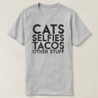 """Camiseta Dos """"Tacos de Selfies gatos T do gato do outro"""